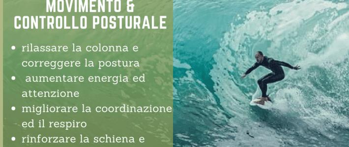 """Sabato 7 luglio workshop """"movimento e controllo posturale"""""""