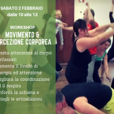 WORKSHOP MOVIMENTO E PERCEZIONE CORPOREA