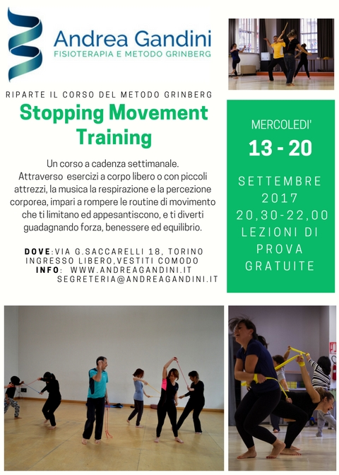 "RIPARTE IL CORSO ""STOPPING MOVEMENT TRAINING"""